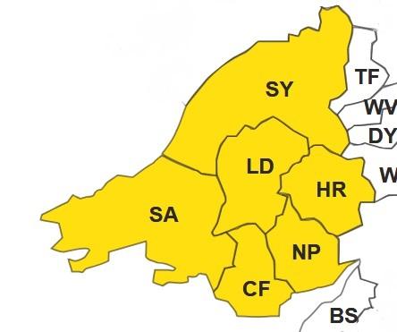 South Wales postcode Map